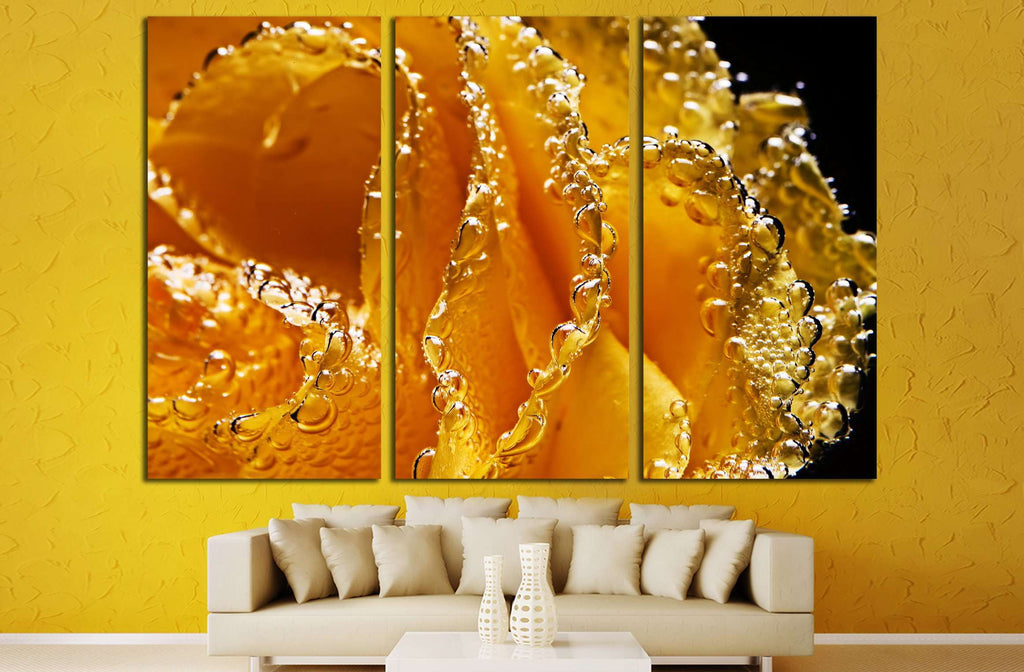 abstract beautiful underwater yellow rose №2750 Ready to Hang Canvas Print