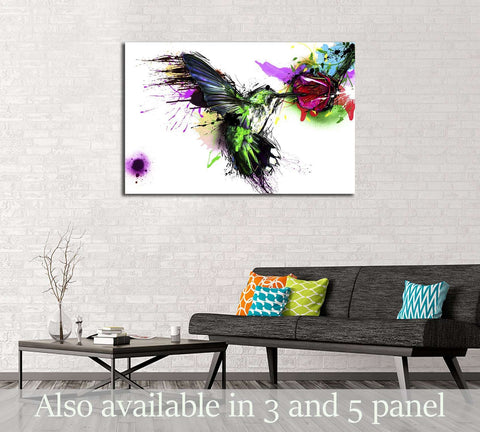 Abstract bird №3310 Ready to Hang Canvas Print