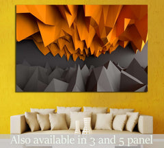 Abstract black and orange background №1611 - canvas print wall art by Zellart