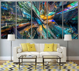 Abstract City №792 Ready to Hang Canvas Print