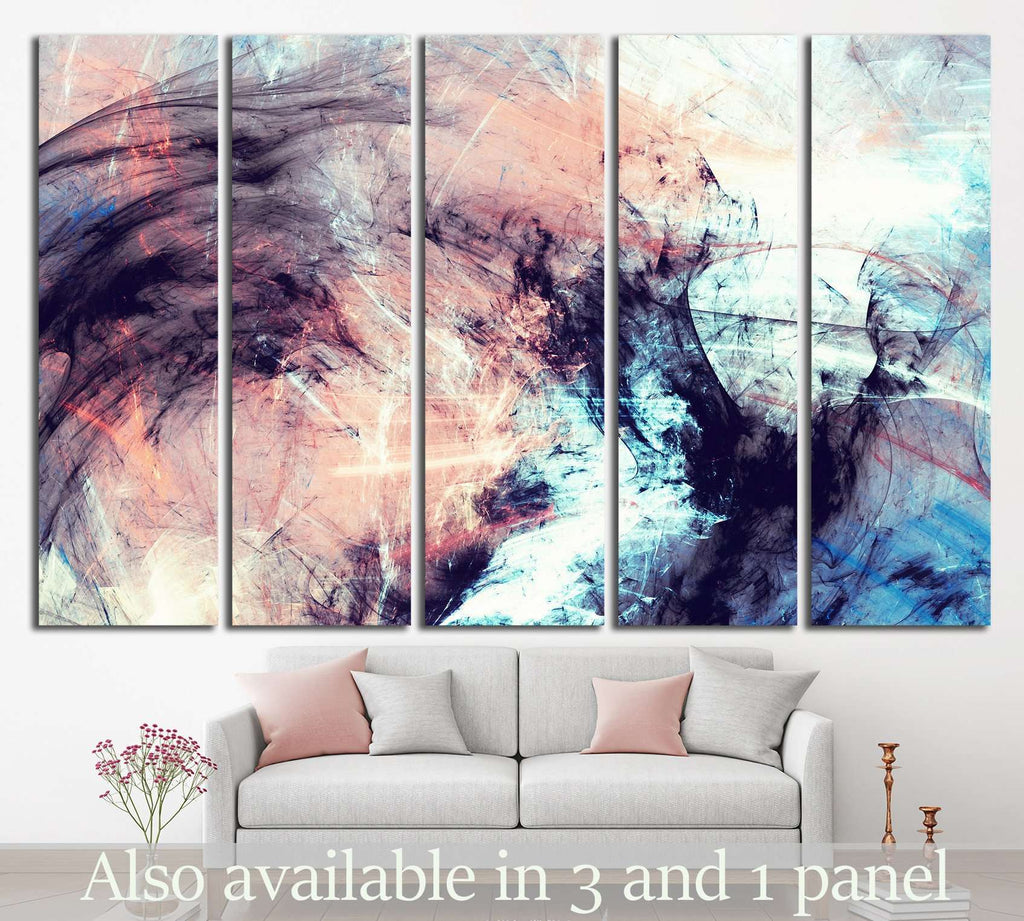 Abstract color dynamic №1048 Ready to Hang Canvas Print