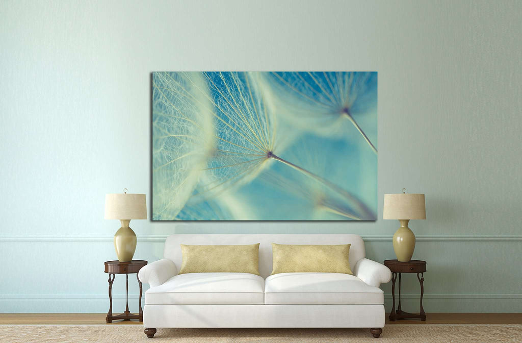 Abstract dandelion flower   №1073 - canvas print wall art by Zellart