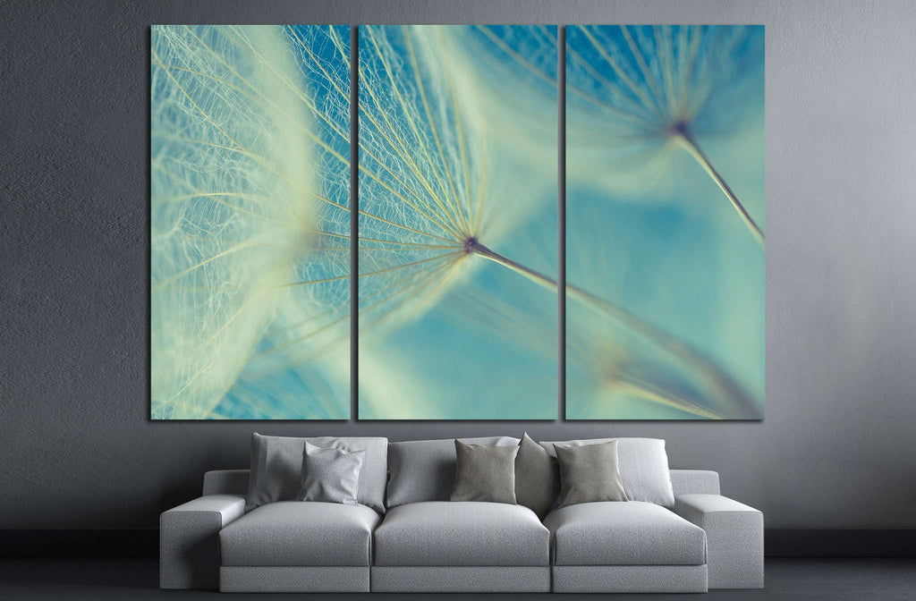 Abstract dandelion flower №1073 Ready to Hang Canvas Print