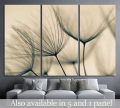 Abstract dandelion flower №1074 Ready to Hang Canvas Print