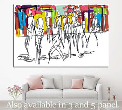 abstract digital painting  №1052 - canvas print wall art by Zellart