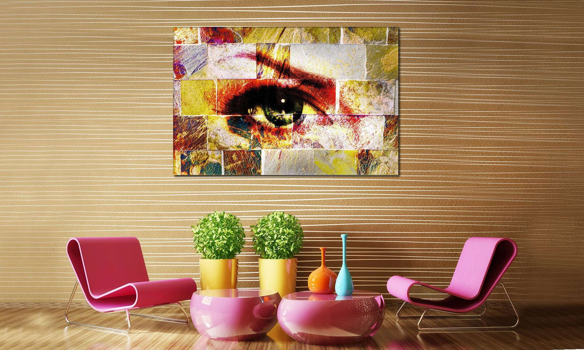 Abstract Eye №839 Ready to Hang Canvas Print