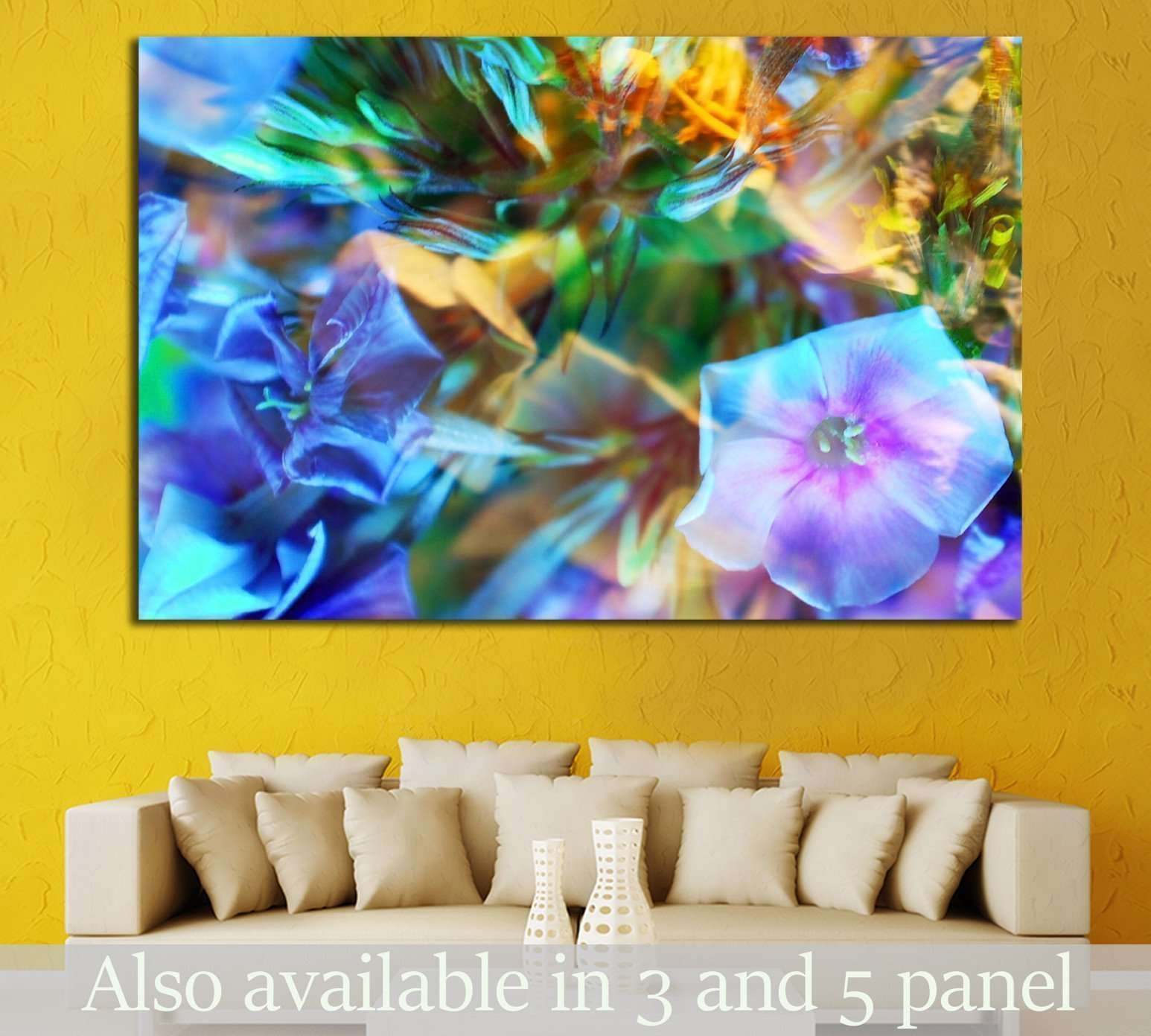 abstract flower background №1348 - canvas print wall art by Zellart