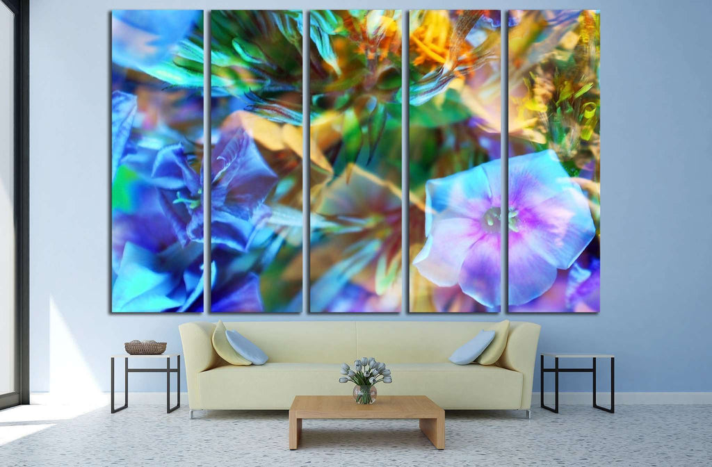 abstract flower background №1348 Ready to Hang Canvas Print