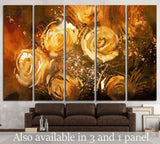 abstract flowers vintage style №1345 Ready to Hang Canvas Print