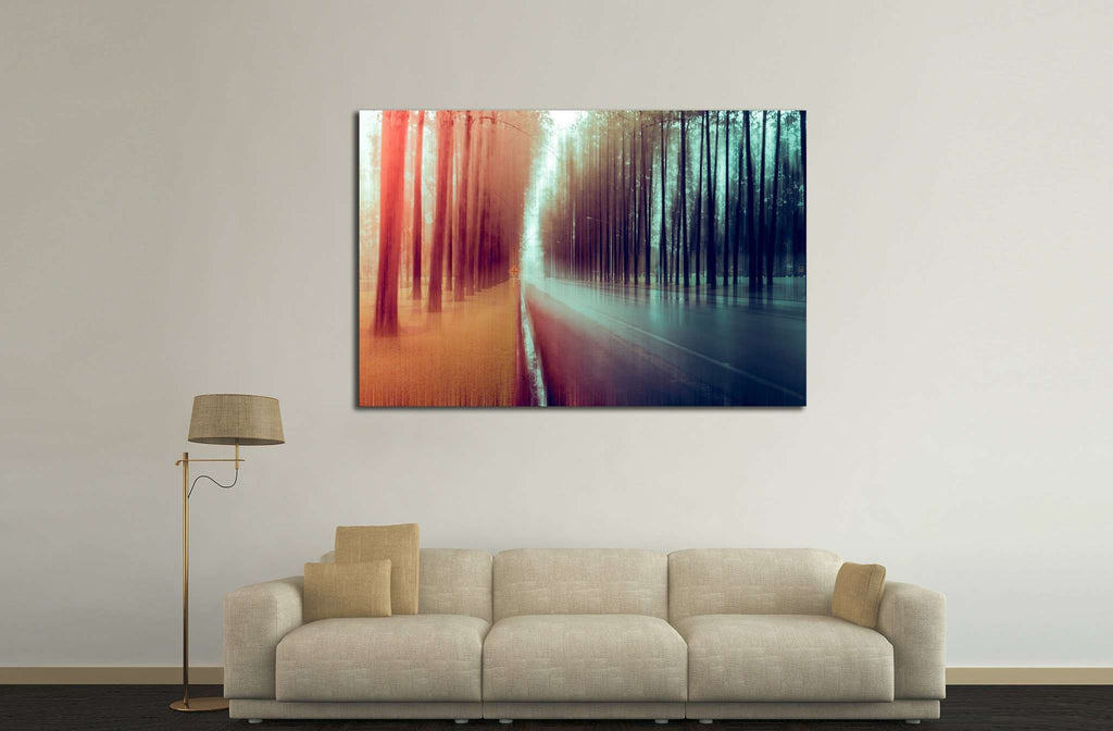 abstract forest №599 - canvas print wall art by Zellart