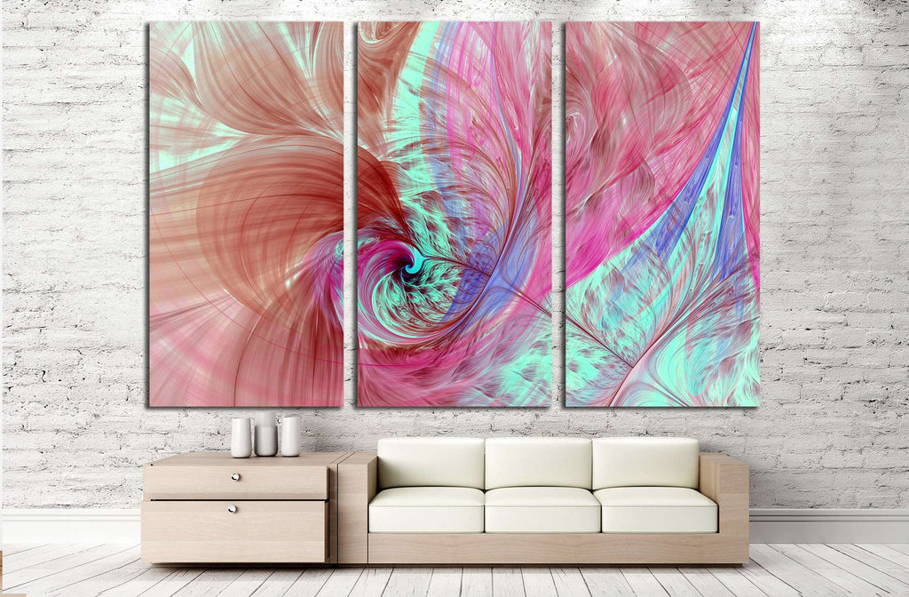 Abstract fractal patterns and shapes. Flowers and spirals №2878 Ready to Hang Canvas Print