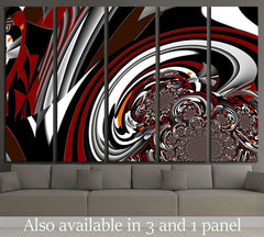 Abstract illustration background graphic design №1594 Ready to Hang Canvas Print