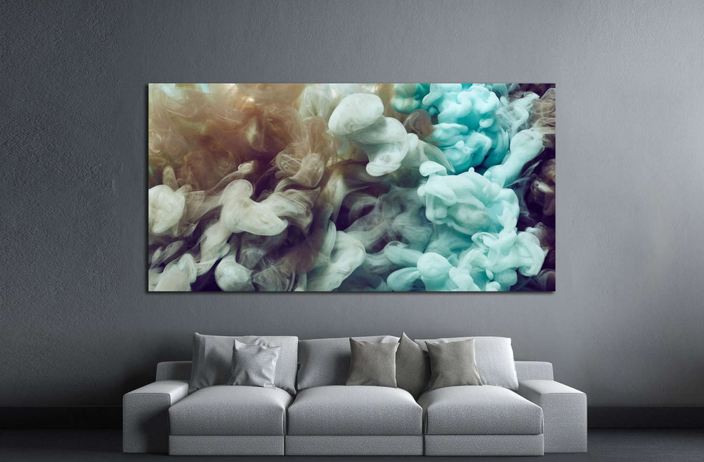 Abstract ink splash №1081 - canvas print wall art by Zellart