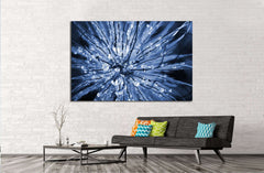Abstract macro picture of dewdrops №1336 - canvas print wall art by Zellart