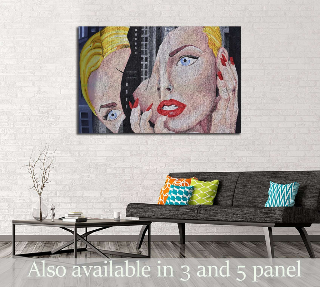 Abstract pop art №3308 Ready to Hang Canvas Print