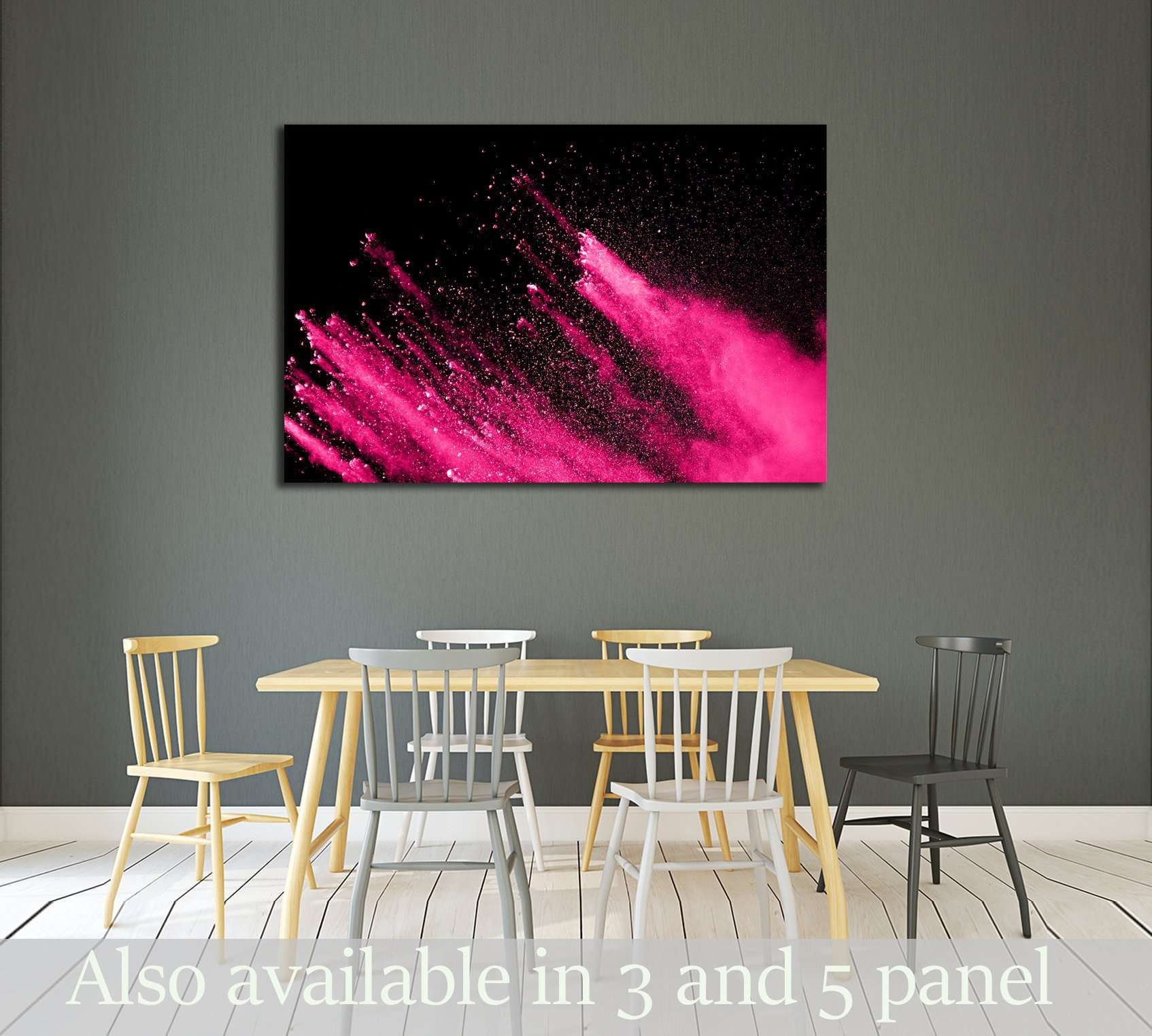 abstract powder splatted background,Freeze motion of color powder exploding №3022 Ready to Hang Canvas Print