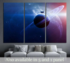 Abstract scientific background - planets in space, nebula and stars №2431 Ready to Hang Canvas Print