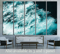 Abstract splash turquoise sea water for background №3139 Ready to Hang Canvas Print