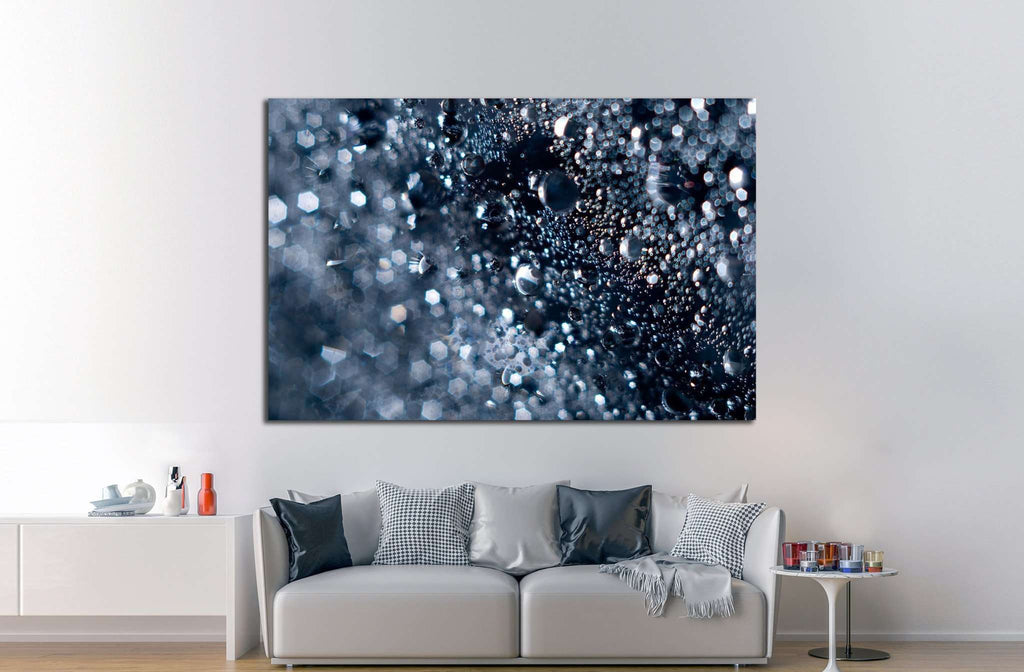 Abstract water with bubbles №1042 - canvas print wall art by Zellart