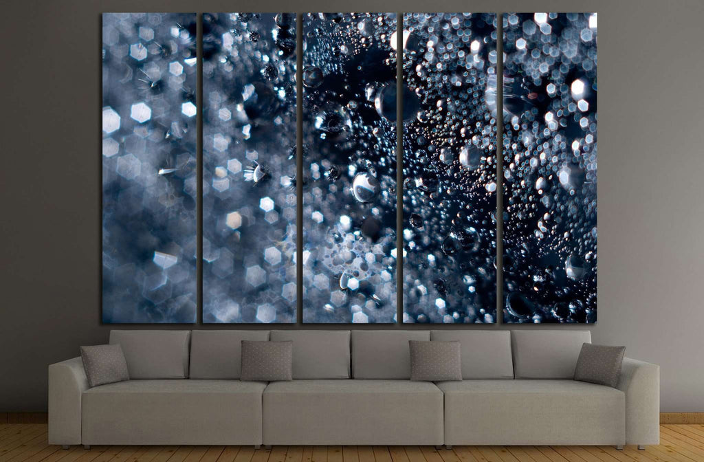 Abstract water with bubbles №1042 Ready to Hang Canvas Print