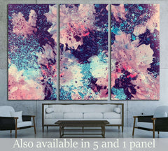 abstract watercolor flower background. hand made drawing. impressionism style. №2534 Ready to Hang Canvas Print