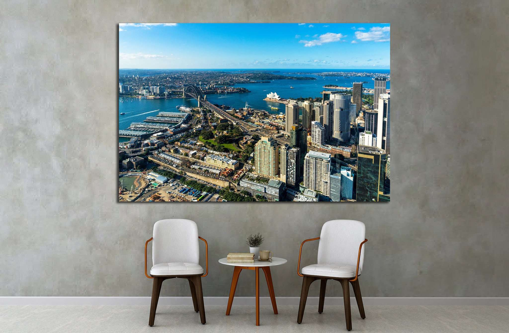 Aerial photo of Sydney CBD with skyline and Harbour bridge №1538 Ready to Hang Canvas Print