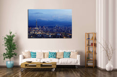 Aerial Taipei №556 Ready to Hang Canvas Print