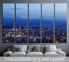 Aerial Taipei  №556 - canvas print wall art by Zellart