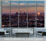 aerial view, downtown Los Angeles №1558 Ready to Hang Canvas Print