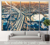 Aerial view, Los Angeles №1001 Ready to Hang Canvas Print