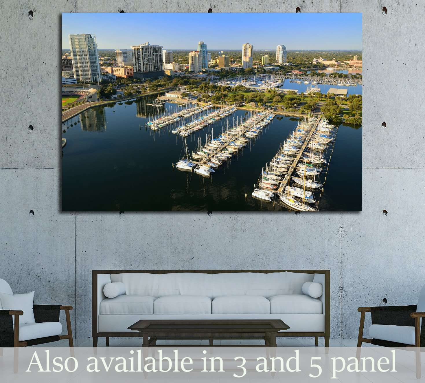 Aerial view of downtown St. Petersburg, Florida №1666 - canvas print wall art by Zellart