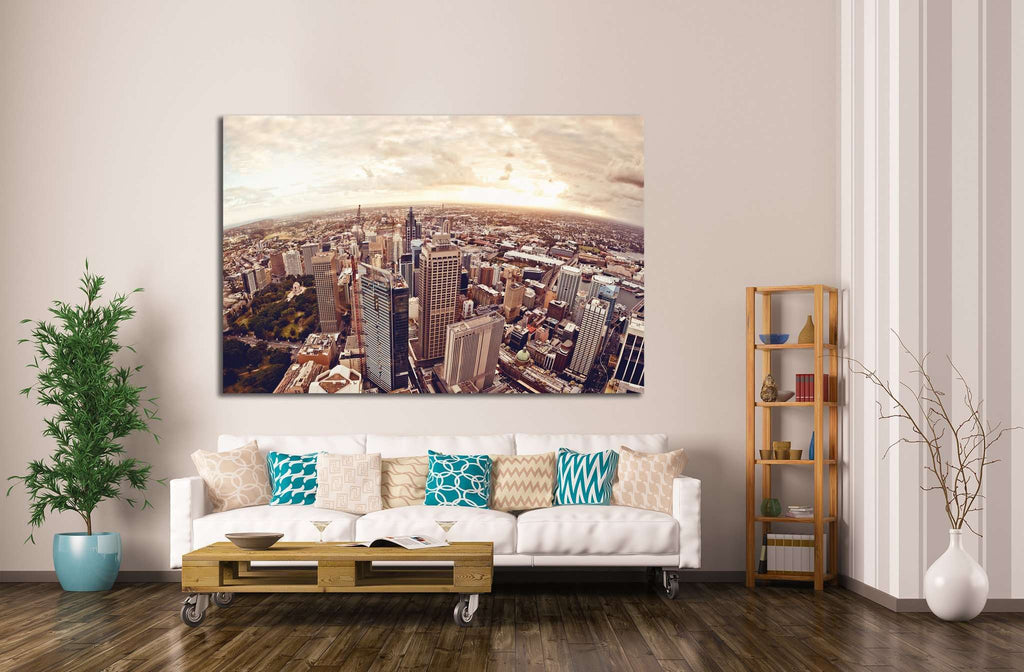 Aerial view of downtown Sydney, Australia №1130 Ready to Hang Canvas Print