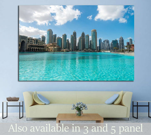 Aerial view of Dubai skyline, UAE №1023 - canvas print wall art by Zellart