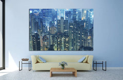 Aerial view of Hong Kong City №1525 - canvas print wall art by Zellart