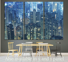 Aerial view of Hong Kong City №1525 Ready to Hang Canvas Print