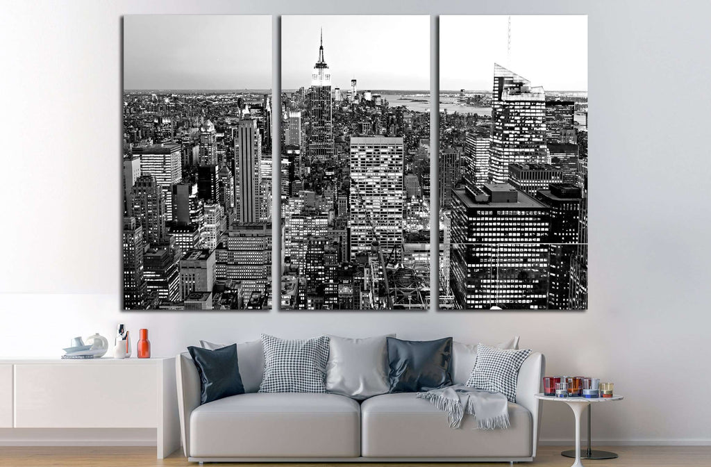 Aerial view of Manhattan, New York City. USA. №2620 Ready to Hang Canvas Print