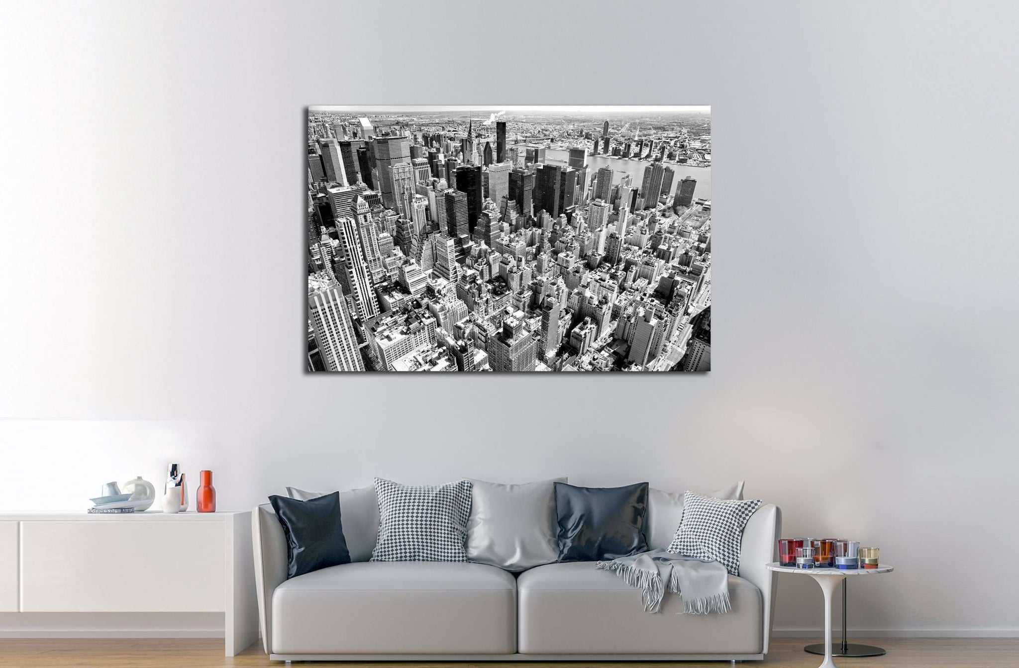Aerial view of Manhattan, New York City. USA. №2621 Ready to Hang Canvas Print