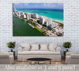 Aerial view of Miami South Beach, Florida, USA №1203 - canvas print wall art by Zellart
