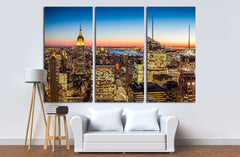 Aerial view of New York city in the USA №2044 Ready to Hang Canvas Print
