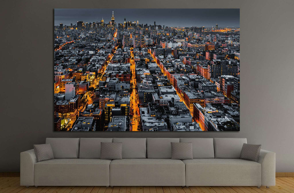 Aerial view of New York City №1119 - canvas print wall art by Zellart