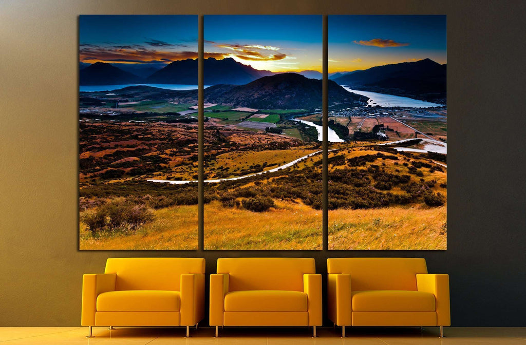 Aerial view of Queenstown, New Zealand №2503 Ready to Hang Canvas Print