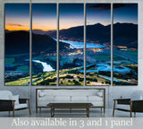 Aerial view of Queenstown, New Zealand №2504 Ready to Hang Canvas Print