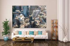 Aerial view of Sydney skyline, Australia №1193 Ready to Hang Canvas Print