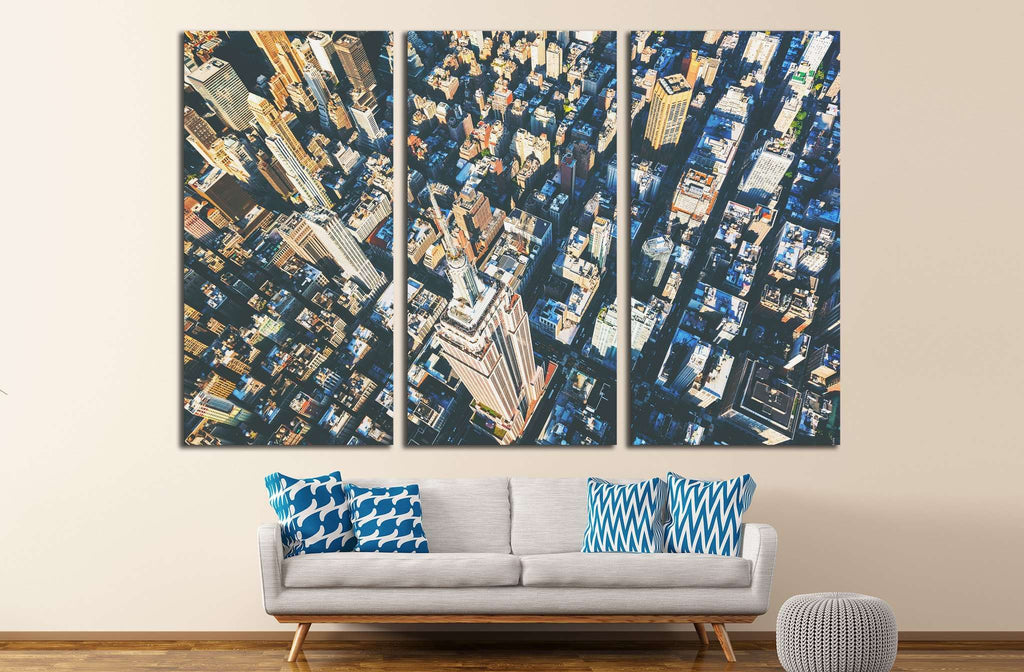 Aerial view of the skyscrapers of Midtown Manhattan New York City №2014 Ready to Hang Canvas Print