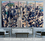 Aerial view of the skyscrapers of Midtown Manhattan New York City №2399 Ready to Hang Canvas Print
