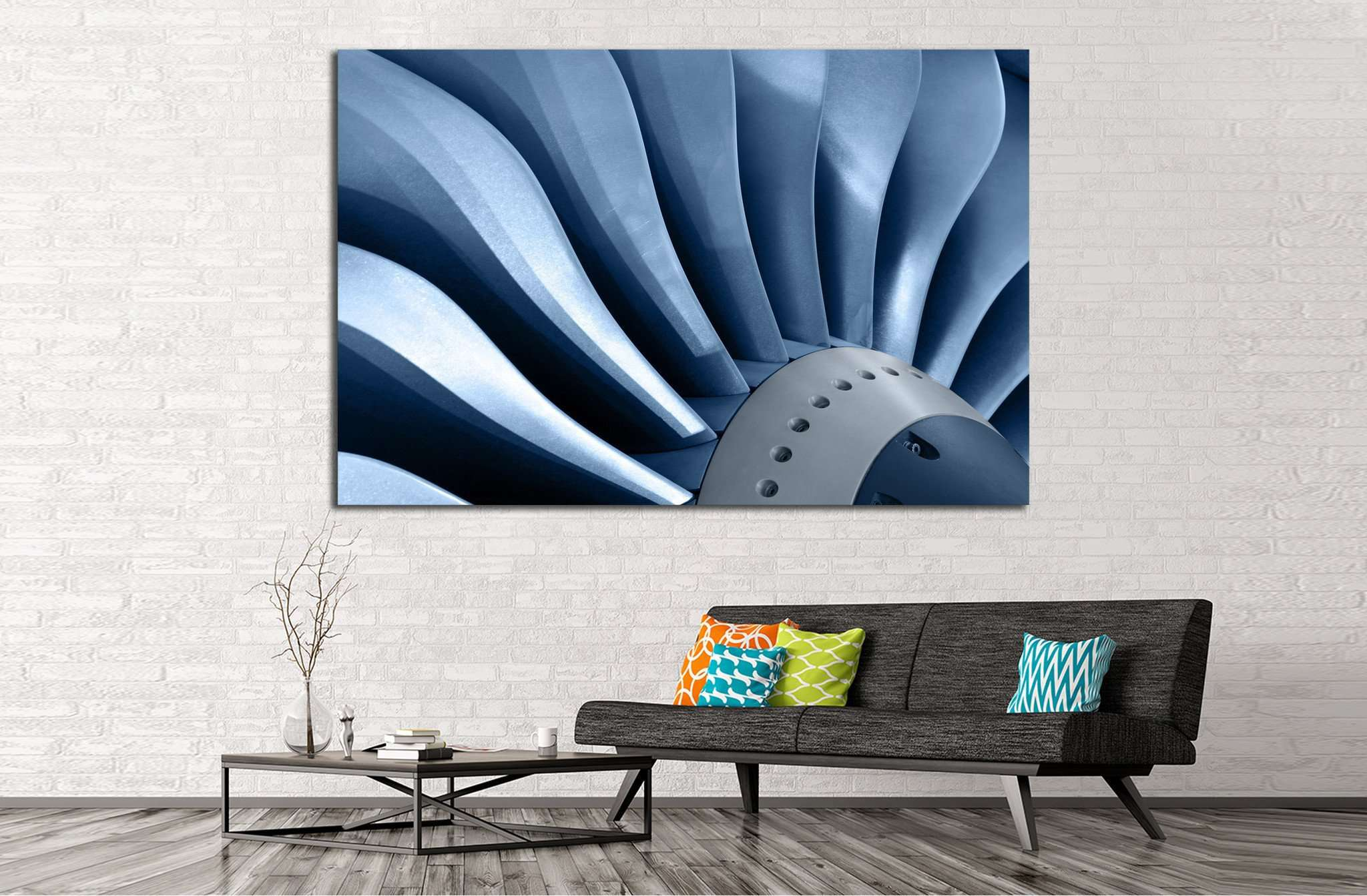 Air Turbine №170 - canvas print wall art by Zellart
