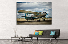 Aircraft №142 - canvas print wall art by Zellart