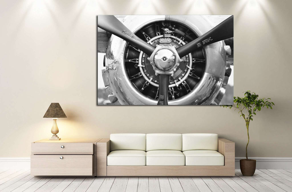 Aircraft Propeller №174 - canvas print wall art by Zellart