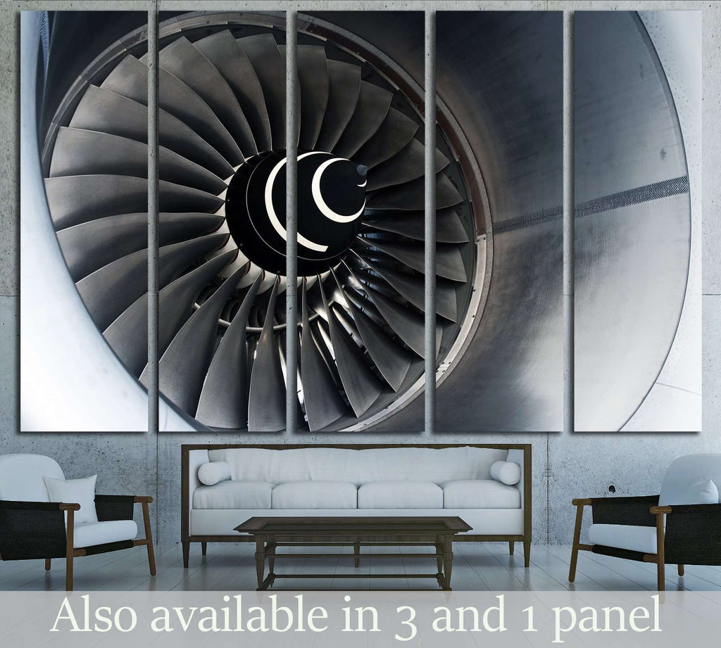 Aircraft Turbofan Engine №1615 Ready to Hang Canvas Print