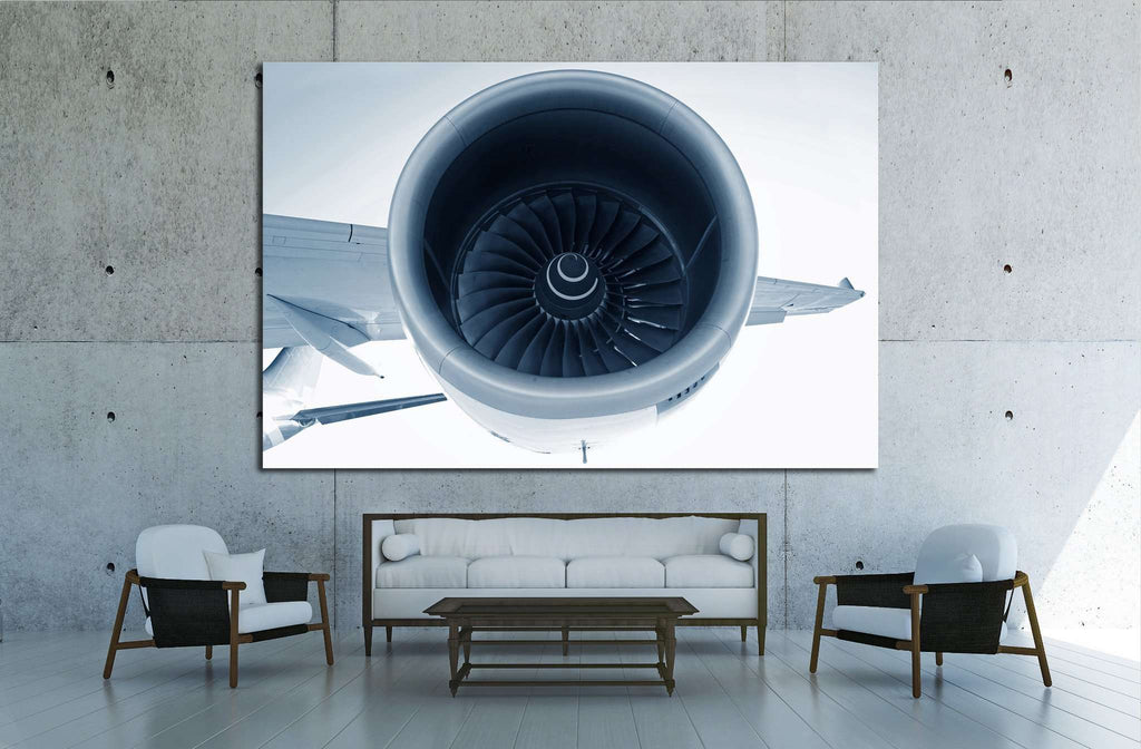 Aircraft Turbofan Jet Engine №1616 - canvas print wall art by Zellart